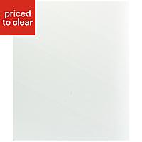 IT Kitchens Santini Gloss White Slab Appliance & larder Base end panel (H)720mm (W)570mm