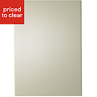 IT Kitchens Santini Gloss Cream Slab Appliance & larder End support panel (H)890mm (W)620mm