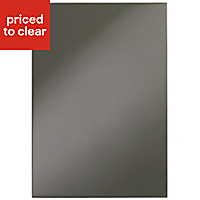 IT Kitchens Santini Gloss Anthracite Slab Appliance & larder End support panel (H)890mm (W)620mm