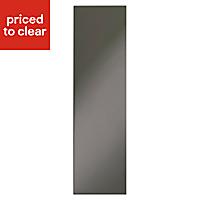 IT Kitchens Santini Gloss Anthracite Slab Tall Larder Panel (H)2100mm (W)570mm, Pack of 2