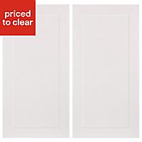 IT Kitchens Stonefield Stone Classic Wall corner Cabinet door (W)250mm, Set of 2