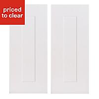 IT Kitchens Stonefield Stone Classic Tall corner Cabinet door (W)250mm, Set of 2