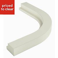IT Kitchens Brookfield Mussel Curved External Cornice & pelmet, (L)416mm (H)150mm