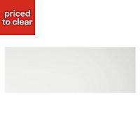Cooke & Lewis Appleby High Gloss White Pan drawer front & bi-fold door, (W)1000mm
