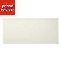 Cooke & Lewis Appleby High Gloss Cream Pan drawer front & bi-fold door, (W)500mm