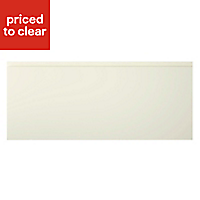 Cooke & Lewis Appleby High Gloss Cream Pan drawer front & bi-fold door, (W)600mm