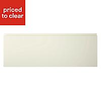 Cooke & Lewis Appleby High Gloss Cream Pan drawer front & bi-fold door, (W)800mm