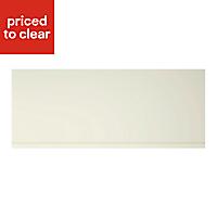 Cooke & Lewis Appleby High Gloss Cream Pan drawer front & bi-fold door, (W)600mm