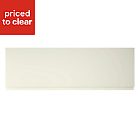 Cooke & Lewis Appleby High Gloss Cream Pan drawer front & bi-fold door, (W)1000mm