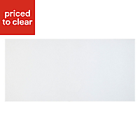Cooke & Lewis Raffello High Gloss White Pan drawer front & bi-fold door, (W)600mm