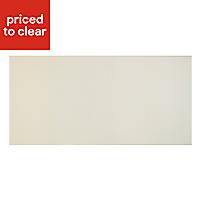 Cooke & Lewis Raffello High Gloss Cream Pan drawer front & bi-fold door, (W)600mm