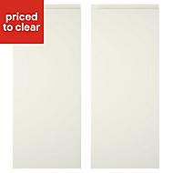 Cooke & Lewis Appleby High Gloss Cream Wall corner Cabinet door (W)250mm, Set of 2