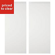 Cooke & Lewis Appleby High Gloss White Wall corner Cabinet door (W)250mm, Set of 2