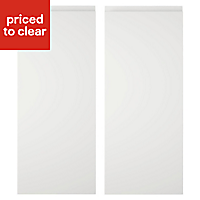 Cooke & Lewis Appleby High Gloss White Wall corner Cabinet door (W)250mm, Set of 2