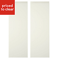 Cooke & Lewis Appleby High Gloss Cream Tall corner Cabinet door (W)250mm, Set of 2