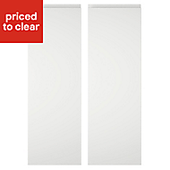 Cooke & Lewis Appleby High Gloss White Tall corner Cabinet door (W)250mm, Set of 2
