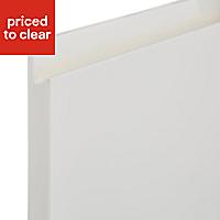 Cooke & Lewis Appleby High Gloss Cream Base corner Cabinet door (W)925mm, Set of 2