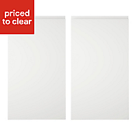 Cooke & Lewis Appleby High Gloss White Base corner Cabinet door (W)925mm, Set of 2