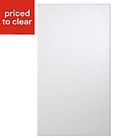 Cooke & Lewis Raffello High Gloss White Slab Appliance & larder Clad on wall panel (H)760mm (W)405mm