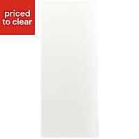 Cooke & Lewis Raffello High Gloss White Slab Tall Appliance & larder Clad on wall panel (H)940mm (W)405mm