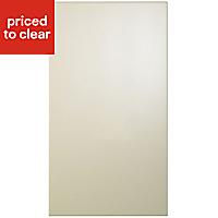 Cooke & Lewis Raffello High Gloss Cream Slab Appliance & larder Clad on wall panel (H)760mm (W)405mm