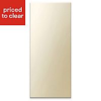 Cooke & Lewis Raffello High Gloss Cream Slab Tall Appliance & larder Clad on wall panel (H)940mm (W)405mm