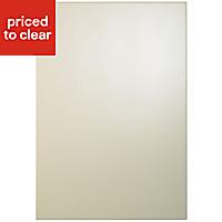 Cooke & Lewis Raffello High Gloss Cream Slab Appliance & larder Clad on base panel (H)900mm (W)640mm