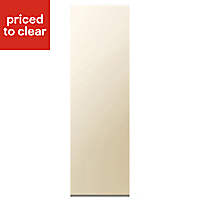 Cooke & Lewis High Gloss Cream Tall Larder Clad on panel (H)2280mm (W)640mm