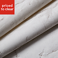 Colours White Painted brick Embossed Wallpaper