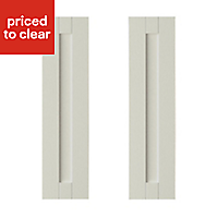 IT Kitchens Brookfield Textured Mussel Style Shaker Tall corner Cabinet door (W)250mm, Set of 2