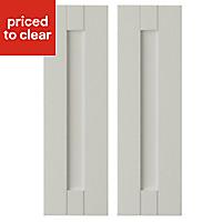 IT Kitchens Brookfield Textured Mussel Style Shaker Wall corner Cabinet door (W)250mm, Set of 2