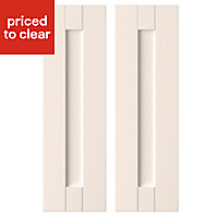 IT Kitchens Textured Ivory Style Shaker Wall corner Cabinet door (W)250mm, Set of 2