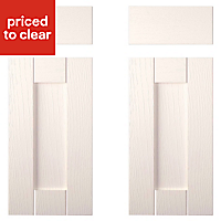 IT Kitchens Brookfield Textured Ivory Style Shaker Cabinet door, (W)925mm