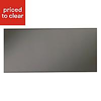 IT Kitchens Santini Gloss Anthracite Slab Pan drawer front & bi-fold door, (W)500mm