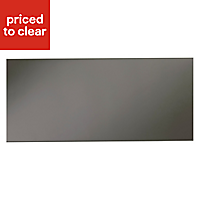 IT Kitchens Santini Gloss Anthracite Slab Pan drawer front & bi-fold door, (W)600mm