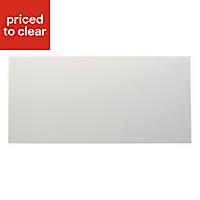 IT Kitchens Santini Gloss White Slab Pan drawer front & bi-fold door, (W)500mm