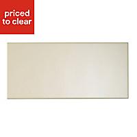 IT Kitchens Santini Gloss Cream Slab Pan drawer front & bi-fold door, (W)500mm