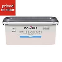 Colours Standard Subtle blush Matt Emulsion paint 2.5L