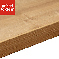 38mm Arlington Oak effect Laminate Square edge Kitchen Right-hand curved Worktop, (L)1800mm