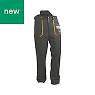 "Oregon Yukon Black Chainsaw trousers (W)88"" (L)31"""