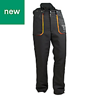 "Oregon Yukon Black & orange Chainsaw trousers (W)42"" (L)31.5"""