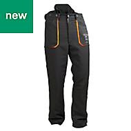 "Oregon Yukon Black & orange Chainsaw trousers (W)42"" (L)31.5"""