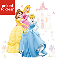Disney Princess Multicolour Self adhesive Wall sticker (L)1000mm (W)700mm