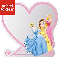 Disney Multicolour Heart Frameless Unframed mirror (H)300mm (W)300mm