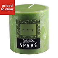 Spaas Pear & fig Pillar candle Medium