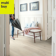 Quick-step Aquanto Light grey Laminate flooring, 1.84m² Pack