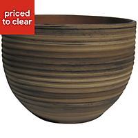 Terracotta Plant pot (H)225mm (Dia)300mm