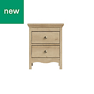 Silkeborg Riviera Oak effect Matt Bedside chest of drawers (H)600mm (W)478mm (D)400mm