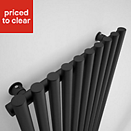 Terma Tune Vertical Radiator Metallic black High quality double layer powder coating (H)1800 mm (W)490 mm