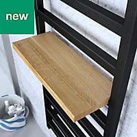 Terma Simple 600W Electric Heban Black Towel warmer (H)1440mm (W)500mm